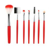 Binmer(TM) 7 PCS Makeup Foundation Eyebrow Eyeliner Blush Cosmetic Concealer Brush with Bag