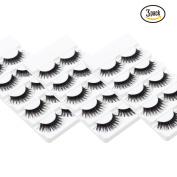 Wleec Beauty Fake Eyelashes Long Thicker Cross False Eyelashes #57