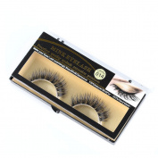 Fashion Beauty Handmade Real Mink Hair Natural Soft False Eyelashes Cross Lashes Professional Cosmetic Fake Eye Lashes