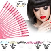 Le Fu Li 350Pcs/Pack Disposable Eyelash Brushes Mascara Wands Applicator Wand Brushes Eyelash Comb Brushes Spoolers Makeup Tool Kit