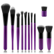 ASIMOON 11pcs Professional Makeup Brushes, Soft Kabuki Brush Foundation Blending Blush Concealer Eye Face Liquid Powder Cream, Cosmetic Brushes Kit with Travel Bag