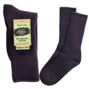Maggies Functional Organics Eggplant Cotton Crew Sock 10 to 13 Size by Maggie's Functional Organics