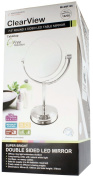 Clearview 19cm Round 2 Sided LED Tabletop Illuminated Magnifying Mirror 1X/5X Magnification