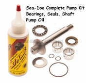 Sea Doo Complete Pump Rebuild Kit Shaft, Bearings and Oil 717 720 GTS GTI LE