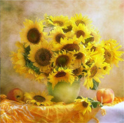YEESAM ART New 5D Diamond Painting Kit - Sunflower - DIY Crystals Diamond Rhinestone Painting Pasted Paint by Number Kits Cross Stitch Embroidery