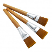 ZHOUXINXING 10Pcs/Set, Nylon Hair Wood Short Crude Rod Big Oil Painting Brush Drawing Art Supplies