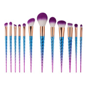 Scofieldly 12PCS Make Up Foundation Eyebrow Eyeliner Blush Cosmetic Concealer Brushes