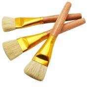ZHOUXINXING 10Pcs/Set, Bristles Hair Wood Short And Thick Rod Big Acrylic Brush Drawing Art Supplies