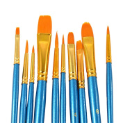 10 PCS Detail Paint Brush Set, Miniature Brushes for Art Painting,Acrylic, Watercolour, Oil -Beginners Applicable