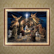 1ytys DIY 5D Diamond Painting Angels Embroidery Cross Stitch Crafts Home Decor