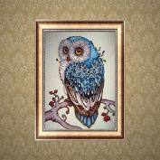 1ytys DIY 5D Diamond Embroidery Painting Owl Animal Cross Stitch Craft Home Decor