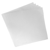 (5) Oracal 30cm X 30cm sheets - Clear Transfer Tape w/ Grid for Adhesive Vinyl | Vinyl Transfer Tape For Cricut, Silhouette, Cameo. Application Paper Transfer Tape