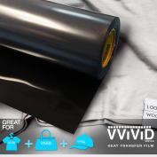 VViViD HTV Black 30cm x 0.9m (90cm ) Iron-on Heat Transfer vinyl film
