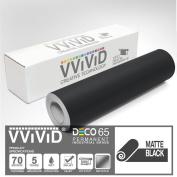 VViViD Black Matte DECO65 Permanent Adhesive Craft Vinyl for Cricut, Silhouette & Cameo