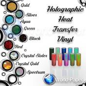 HOLOGRAPHIC Heat Transfer Vinyl IRON-ON 50cm x 30cm