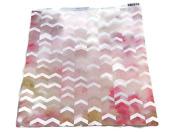 Pink Watercolour Chevron 12x12 Scrapbook Craft Paper - 4 Sheets