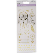 NEW! MultiCraft Clear Foil Stickers-Suncatcher Gold W/Dreamcatchers