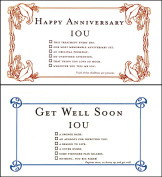 Quiplip Get Well + Iou Anniversary (6 Cards) Greeting