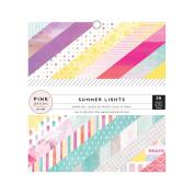 American Crafts Pink Paislee Summer Lights 6 x 6 36 Sheet Paper Pad