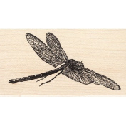 Flying Dragonfly Large Rubber Stamp