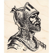 Knight Profile Rubber Stamp Large