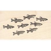 School of Zebra Fish Rubber Stamp