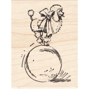 Poodle Trick Rubber Stamp Dogss Animals