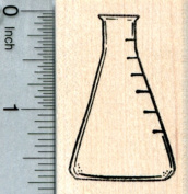 Erlenmeyer Flask Rubber Stamp, Chemistry Lab Science Series