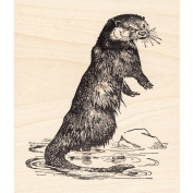 Otter Small Rubber Stamp Animals