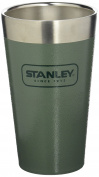 Stanley Adventure Stainless Steel Vacuum Insulated Pint Glass, Hammertone Green, 0.47 Litre