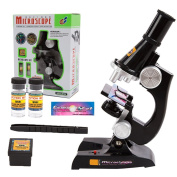 ShinMor Science Microscope Kit for Children 100x 200x 450x Refined Scientific Instruments Toy Set for Early Education