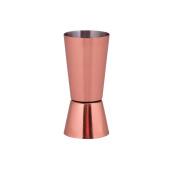 Kosma Stainless Steel Jigger   Peg Measure  Dual Measure Spirit Measuring cup in Copper Finish- 30/60 ml
