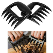 2 Pcs Bear Paws Claws Meat Handler Fork Tongs Pull Shred Pork BBQ Shredder