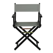 Casual Home Black Frame Canvas Director Chair, 46cm , Grey