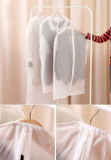 5pcs Travel Garment Suit Clothes Covers Bags Washable Dustproof Dress Organiser Storage Zipper Cover Bag Protector, 4pcs Medium 24×100cm + 1pcs Large 24×130cm
