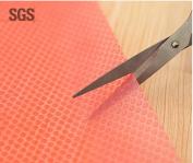 4 Pack Refrigerator Mats, HityTech Waterproof Refrigerator Pads Non-Slip Fridge Mats Shelves Drawer Table Mats - Red