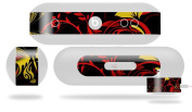Twisted Garden Red and Yellow Decal Style Skin - fits Beats Pill Plus