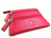 Womens Ladies Mens Premium Super Soft Genuine Leather Coin Pouch Credit Card Holder Wallet Purse