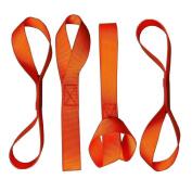 ZOOKOTO 4Pack Orange Heavy Duty Soft Loops Tie Down Extension Straps Motorcycle Motorbike ATV Tie