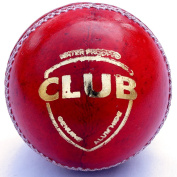 Cricket Ball | Pure Leather | Red | Club