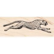 Running Cheetah Rubber Stamp