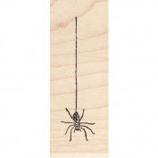 Hanging Spider Rubber Stamp