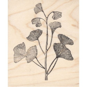 Large Ginkgo Branch Rubber Stamp
