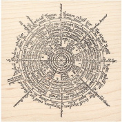 Time Space Wheel Rubber Stamp