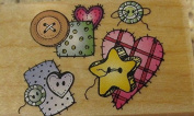 Hero Arts Buttons and Patches Wood Mounted Rubber Stamp C1159