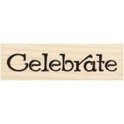 Celebrate Rubber Stamp