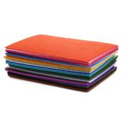 Awakingdemi Colour Polyester Wool Fabric,40pcs DIY Cloth Fabric Bundle Patchwork Weaving Materials
