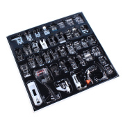 Onerbuy Professional Domestic 42pcs Sewing Machine Presser Foot Set Low Shank Snap-on Sewing Supply Accessory Tools for Brother, Singer, Janome, Kenmore