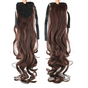 USIX 50cm Hair Piece Wrap Around Ponytail Extension Rinka Haircut Nature Looking Heat-Resisting Ponytail Extension