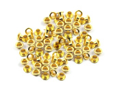 CRAFTMEmore 4MM Hole 100PCS Grommets Eyelets for Shoes, Bead Cores, Clothes, Leather, Canvas